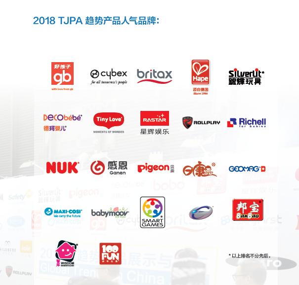 2018年TJPA趋势产品人气品牌